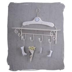 Cuier pentru baie din fier forjat alb antichizat