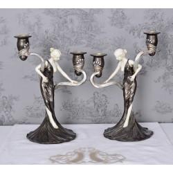 Set doua sfesnice Art Nouveaux