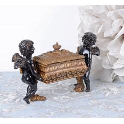 Caseta bijuterii Art Nouveaux cu doi Cupidoni