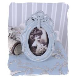 Rama foto bleu antichizata