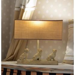 lampa de masa cu trei caini