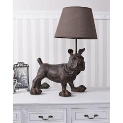 Lampa de masa cu un buldog