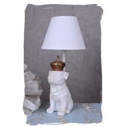 Lampa de masa cu un buldog cu coroana