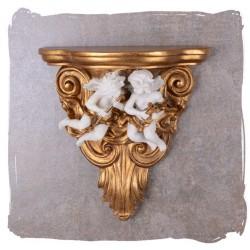 Consola de perete cu doi ingerasi din alabastru