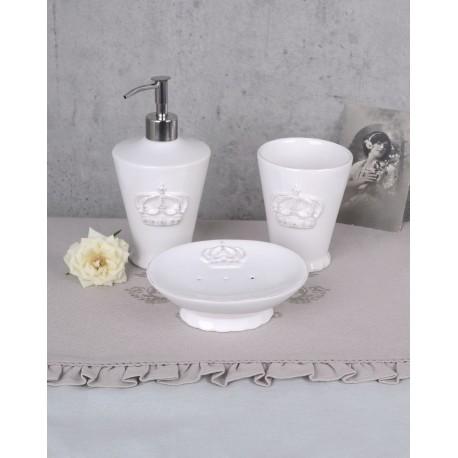 Set pentru baie din portelan alb