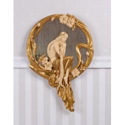 Oglinda Art Nouveau cu o femeie