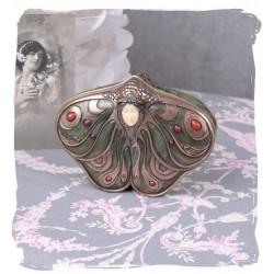 Caseta Jugenstill cu o femeie fluture