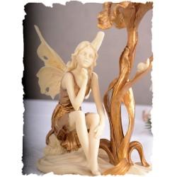 Sfesnic Art Nouveau cu un elf din alabastru