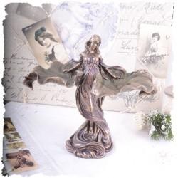 Statueta Art Nouveau cu o dansatoare
