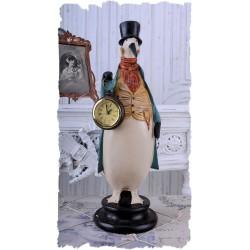 Ceas nostalgic din rasini cu un pinguin