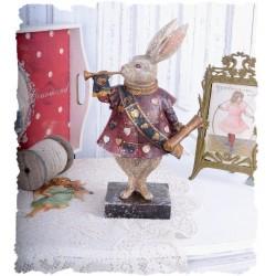 Statueta nostalgica cu iepurasul din Alice in tara minunilor