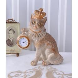 Ceas nostalgic din rasini cu o pisica