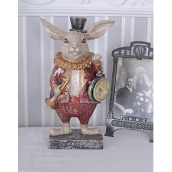 Ceas nostalgic din rasini cu un iepure