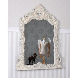 Oglinda Shabby Chic alba antichizata