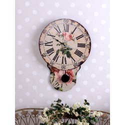 Ceas mare vintage din lemn cu pendul