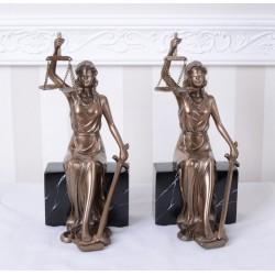 Set doua suporturi de carti cu justitia
