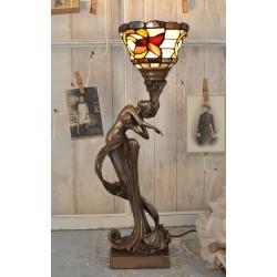 Lampa Tiffany cu o femeie