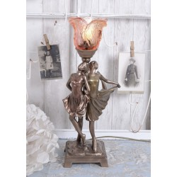 Lampa Art Deco cu o femeie