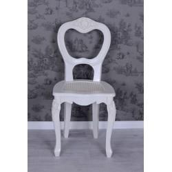 Scaun din lemn masiv alb