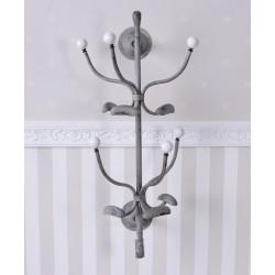 Cuier pom din metal Antik grey