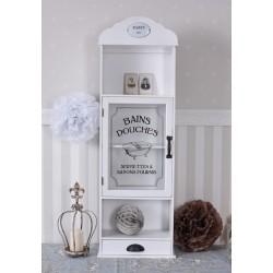 Dulapior pentru baie din lemn masiv alb