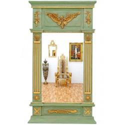 Oglinda frantuzeasca verde cu auriu