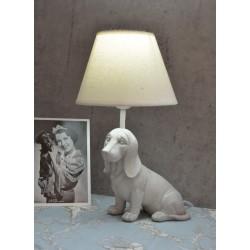 Lampa de masa cu un caine