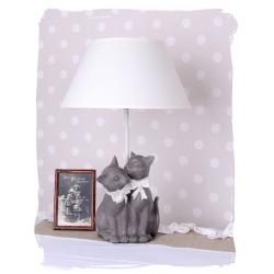 Lampa de masa cu doua pisici