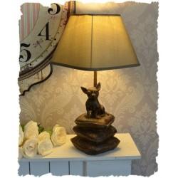 Lampa de masa cu un caine chiuaua