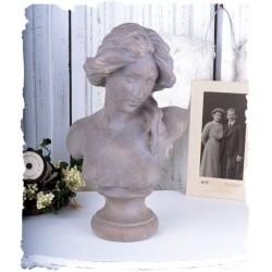 Bust femeie -statueta nostalgica din rasini