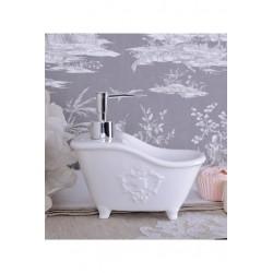 Dispenser sapun din portelan alb antichizat