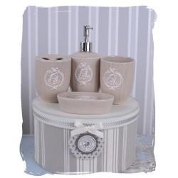 Set pentru baie din portelan alb antichizat