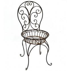 Jardiniera scaun din fier forjat Antik Brown