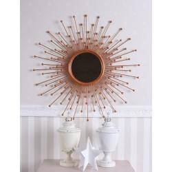 Oglinda soare cu o rama din cupru