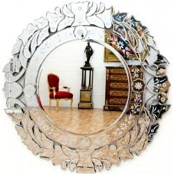 Oglinda venetiana  rotunda  din cristal