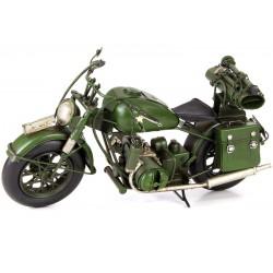 Model de motocicleta militara verde