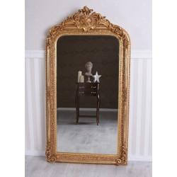 Oglinda baroc din cristal cu o rama aurie cu decoratiuni