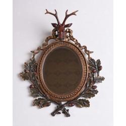 Oglinda decorativa din rasini speciale cu cap de cerb