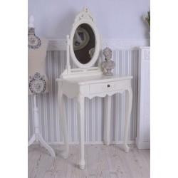 Masa toaleta din lemn masiv alb