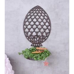 Suport maro din metal pentru flori