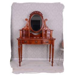 Masa toaleta din lemn mahon cu oglinda