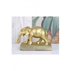 Set doua suporturi pentru carti cu un elefant auriu