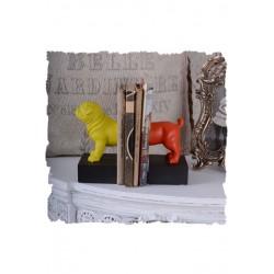 Set doua suporturi pentru carti cu un buldog multicolor