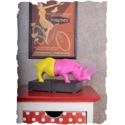 Set doua suporturi pentru carti cu un rinocer multicolor